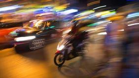 Ruch nocy Tajlandzka ulica Obrazy Royalty Free