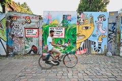 Ruch plama cyklista jazda Zdjęcie Royalty Free