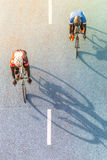 Ruch plama cyklista podczas rasy fotografia royalty free