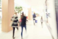 Ruch plama ludzie w zakupy centrum handlowym Zdjęcie Royalty Free