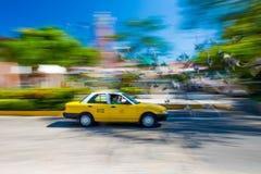 Ruch plama taxi taksówka zdjęcie royalty free
