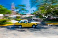 Ruch plama taxi taksówka fotografia royalty free