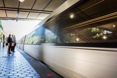 Ruch plamy metra washington dc Arlington Cmentarniany rocznik Stary Zdjęcie Stock