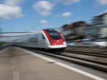 Ruch plamy prędkości Wysoki pociąg Fotografia Royalty Free