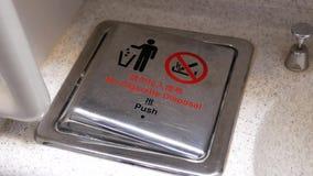 Ruch pojemnik na śmiecie z palenie zabronione znakiem zbiory