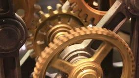 Ruch przekładnie w pracującym clockwork zakończeniu up zbiory