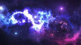 Ruch przez przestrzeni, gwiazd, galaxies i mgławic, ilustracja wektor