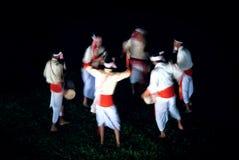Ruch scena Dhol bębenu męski taniec, festiwal, Bohag Bihu lub Rongali Bihu i świętuje Assamese nowy rok zdjęcie royalty free