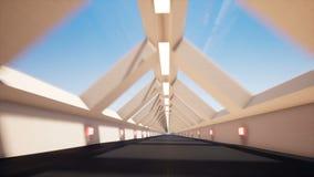 Ruch wśrodku długiego tunelu royalty ilustracja