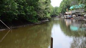 Ruch woda rzeka przy Pak Nam Prasae zbiory wideo