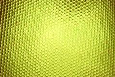 Ruche d'abeille en jaune Image stock