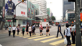 Ruchliwa Ulica przy Bukit Bintang Kuala Lumpur zdjęcia stock