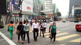 Ruchliwa Ulica przy Bukit Bintang Kuala Lumpur fotografia royalty free
