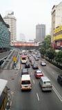 Ruchliwa Ulica przy Pudu placem Rakyat Kuala Lumpur zdjęcia royalty free