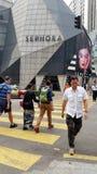 Ruchliwa Ulica przy Sephora Bukit Bintang Kuala Lumpur obrazy royalty free