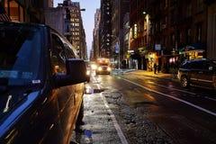 Ruchliwa ulica w Nowy Jork Obraz Royalty Free