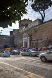 Ruchliwa Ulica w Rzym, Włochy Zdjęcia Royalty Free