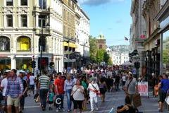 Ruchliwe ulicy Oslo Obraz Royalty Free