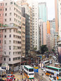 Ruchliwe ulicy przy Hong Kong zdjęcie stock