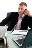 ruchliwie biznesmena telefon Obrazy Royalty Free