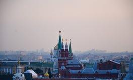 Ruchliwie centrum Moskwa obraz stock