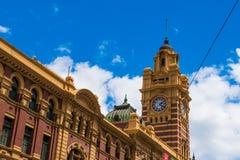 Ruchliwie Flinders ulicy stacja Fotografia Stock