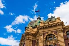 Ruchliwie Flinders ulicy stacja Zdjęcie Royalty Free