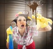 ruchliwie gospodyni domowa Fotografia Stock