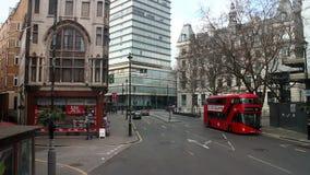 Ruchliwie Londyńska ulica zdjęcie wideo
