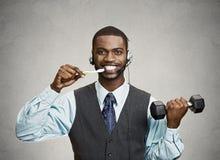 Ruchliwie mężczyzna multitasking Fotografia Stock