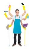 Ruchliwie męska cleaning usługa Zdjęcie Royalty Free