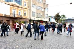 Ruchliwie miast ludzie Zdjęcia Royalty Free