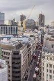 Ruchliwie powietrzny uliczny widok Zdjęcie Royalty Free