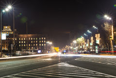 Ruchliwie ruch drogowy przy Belgrade ` s ulicami - Belgrade, Serbia obraz stock