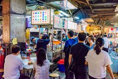 Ruchliwie scena Jingmei nocy rynek Zdjęcie Royalty Free