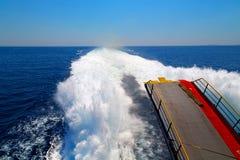 ruchu abstrakcjonistyczny przypływ łódź Zdjęcie Stock