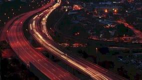 Ruchu czasu upływu śladu ruchliwie lekki ruch drogowy zdjęcie wideo