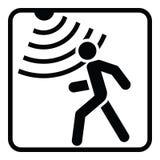 Ruchu detektoru stała ikona, ochrona i strażnik, ilustracji