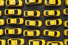 Ruchu drogowego dżem żółci taxi Obrazy Stock