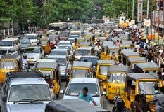 Ruchu drogowego dżem Zdjęcia Stock