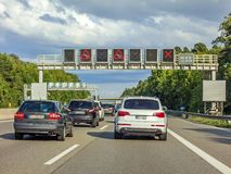 Ruchu drogowego dżem, autobahn, Germany zdjęcie stock