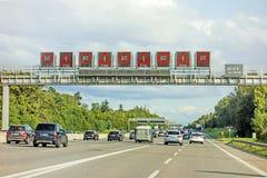 Ruchu drogowego dżem, autobahn, Germany fotografia stock