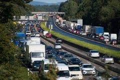 Ruchu drogowego dżem na międzystanowym Fotografia Stock