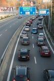 Ruchu drogowego dżem w Brno fotografia royalty free