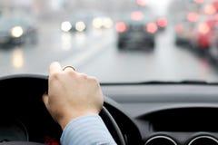 Ruchu drogowego dżem w dużym mieście obraz stock