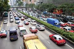 Ruchu drogowego dżem w Hong Kong fotografia stock