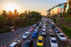 Ruchu drogowego dżem w mieście Fotografia Royalty Free