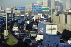 Ruchu drogowego dżem w Paryż, Francja Obraz Royalty Free