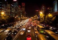 Ruchu drogowego dżem w Pekin, Chiny obraz stock