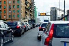 Ruchu drogowego dżemu kolejka obraz stock